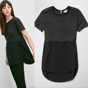 WILFRED (Aritzia) CAPUCINE Charcoal. Blouse/Top